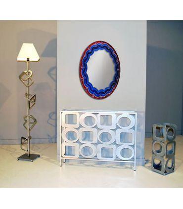 Espejos de Cristal Decorados a mano : Modelo LOTTO Ovalado