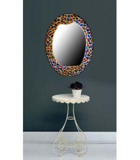 Comprar online Espejos de Cristal Decorados a mano : Modelo GAUDI Ovalado