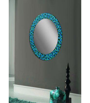 Espejos de Cristal Decorados a mano : Modelo MOSAICO Ovalado