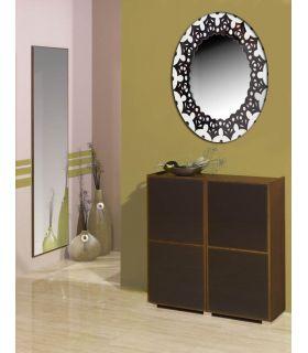 Comprar online Espejos de Cristal Decorados a mano : Modelo MANDALA Ovalado