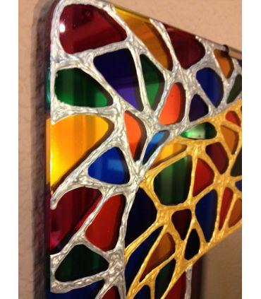 Espejos de Cristal Decorados a mano : Modelo MANDALA Ovalado