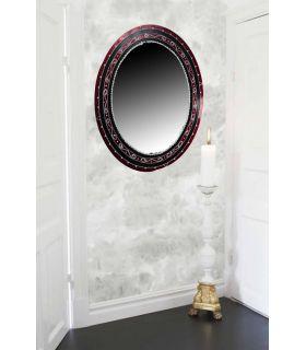 Comprar online Espejos de Cristal Decorados a mano : Modelo GOTICO Oval