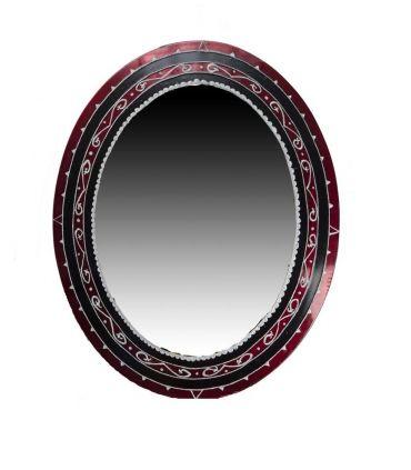Espejos de Cristal Decorados a mano : Modelo GOTICO Oval
