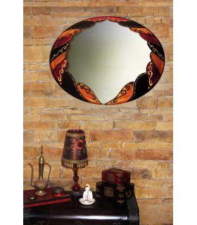 Comprar online Espejos de Cristal Decorados a mano : Modelo ARABE Ovalado