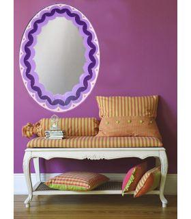 Comprar online Espejos de Cristal Decorados a mano : Modelo LOTTO Morado