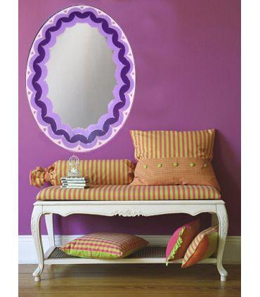 Espejos de Cristal Decorados a mano : Modelo LOTTO Morado