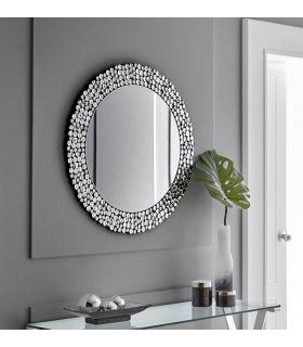 Comprar online Espejo Redondo con cristales facetados : Modelo ALICANTE