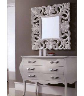 Espejos Cuadrados de pared : Modelo SARTRE blanco