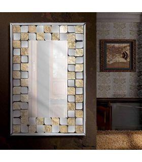 Comprar online Espejo decorativo de Lunas biseladas y Pan de Oro FREIA