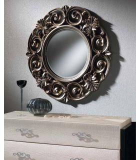Comprar online Espejo Redondo con marco Calado : Modelo VOLGA