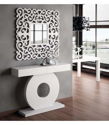 Espejos Modernos de Pared Cuadrados : Modelo SANDRA Blanco