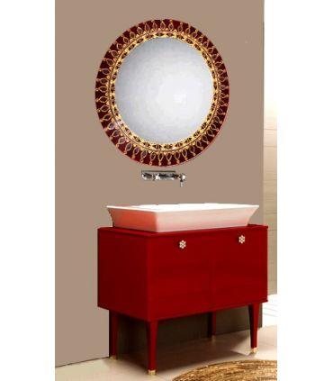Espejos de Cristal Decorados a mano : Modelo DIANA RD