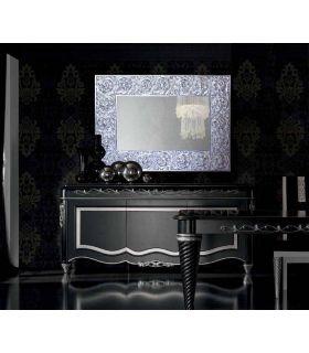 Comprar online Espejo Rectangular con motivos florales : Modelo TRESON Plata