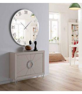 Comprar online Espejo Moderno con Reloj : Modelo MURANO Redondo