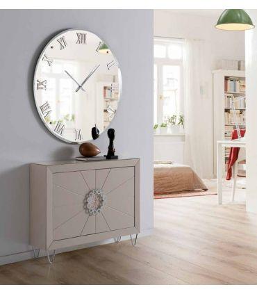 Espejo Moderno con Reloj : Modelo MURANO Redondo