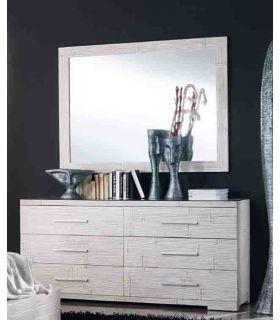 Comprar online Espejos de Pared de Bambu : Coleccion ESSENTIAL Blanco