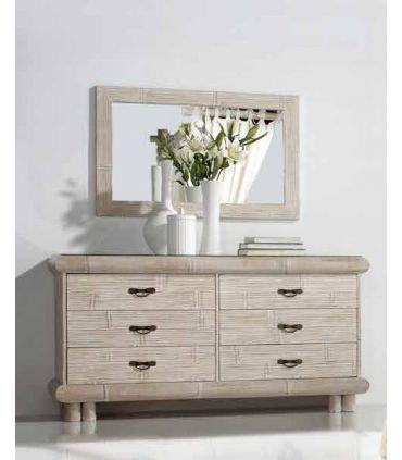 Espejos de Pared de Bambu : Coleccion ESSENTIAL Blanco