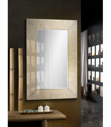 Espejo Moderno en Pan de Oro : Modelo HERMES
