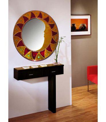 Espejos de Cristal Decorados a mano : Modelo MAYA
