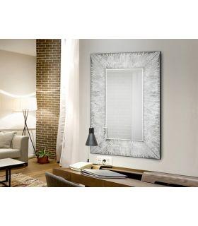 Comprar online Espejo Rectangular de Diseño con Pan de Plata : Modelo AURORA