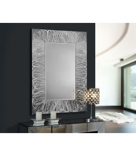 Comprar online Espejo de Cristal con Decoración en Pan de Plata : Modelo RIZOS
