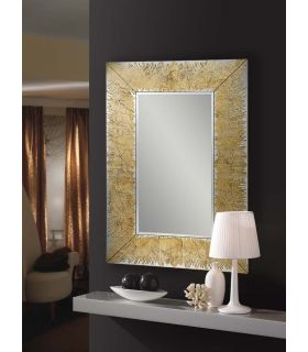 Comprar online Espejo de Cristal/Pan de Oro : Modelo AURORA Rectangular