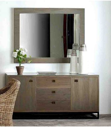 Espejos de Madera de Mahogany : Coleccion NIKKO