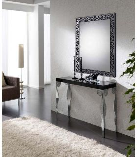 Comprar online Espejos decorativos de pared a medida : Modelo CORNELLÁ Negro