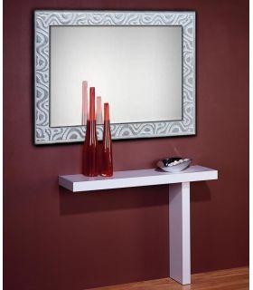 Comprar online Espejo de pared con marco de madera a medida : CORNELLA Blanco