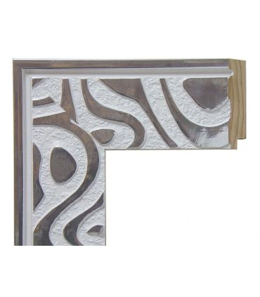 Espejo de pared con marco de madera a medida : CORNELLA Blanco