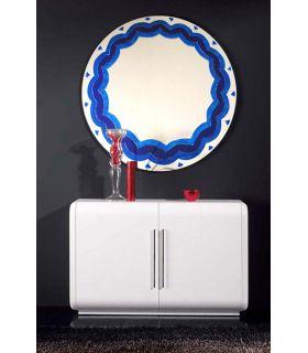 Comprar online Espejos de Cristal Decorados a mano : Modelo BLUE RD