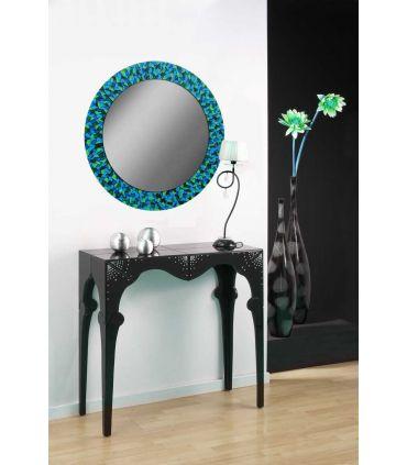 Espejos de Cristal Decorados a mano : Modelo MOSAICO RD