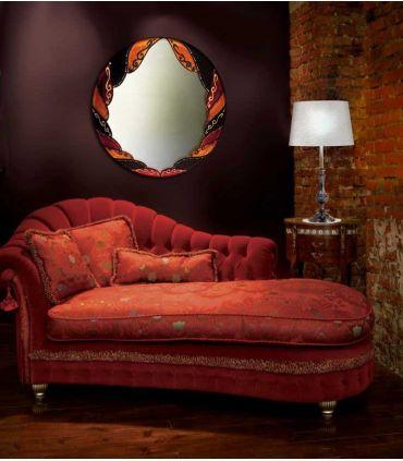 Espejos de Cristal Decorados a mano : Modelo ARABE Redondo