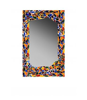 Espejos de Cristal Decorados a mano : Modelo GAUDI RECTANGULAR GR