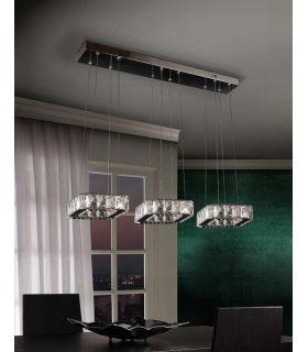 Comprar online Lámpara de 3 Colgantes Cristal Facetado : Colección DIVA