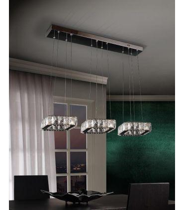 Lámpara de 3 Colgantes Cristal Facetado : Colección DIVA
