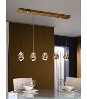 Comprar online Lámparas LED de 5 luces : Colección ROCIO Oro Lineal