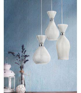 Lámpara Colgante de Cristal Escarchado : Modelo BARI