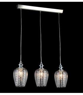Comprar online Lámpara de Techo 3 luces con Tulipas Transparentes : Colección BLUES