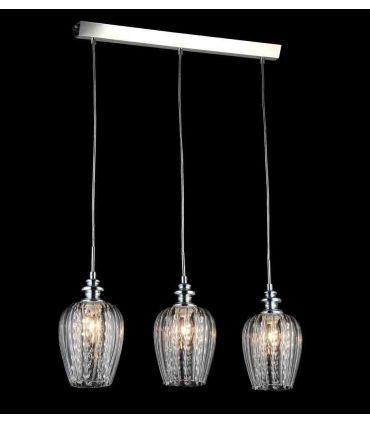 Lámpara de Techo 3 luces con Tulipas Transparentes : Colección BLUES