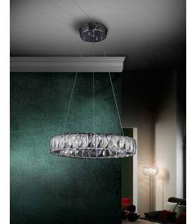 Comprar online Lámpara LED de Cristal Facetado : Colección DIVA redonda