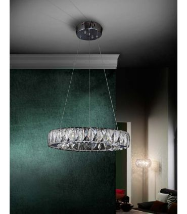 Lámpara LED de Cristal Facetado : Colección DIVA redonda