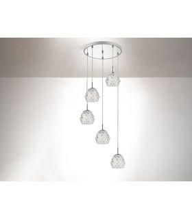 Comprar online Lámparas con Colgantes de Cristal : Colección HESTIA 5 luces