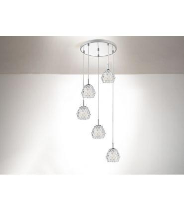 Lámparas con Colgantes de Cristal : Colección HESTIA 5 luces