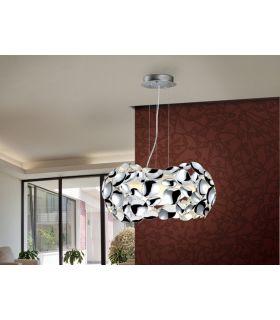 Lámparas decorativas de metal acabado Cromo : Colección NARISA 3 luces