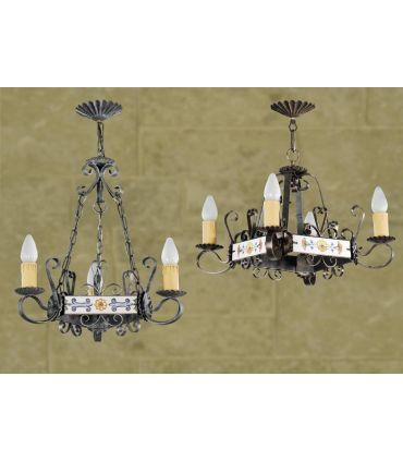 Lámparas rusticas Mod. L-109-3 y 4
