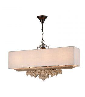 Comprar online Lámpara Clásica Rectangular de 4 Luces : Colección CIPRESSO
