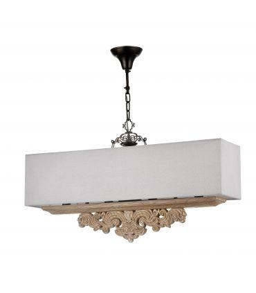 Lámpara Clásica Rectangular de 4 Luces : Colección CIPRESSO