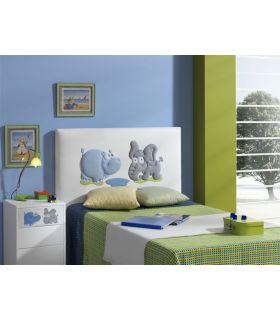Comprar online Cabecero Infantil Tapizado Bordado : Modelo JUNGLE