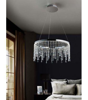 Colgante LED de Metal y Cristal : Colección ANASTASIA Pequeño